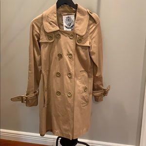 Women's BB Dakota tan trench coat, size M